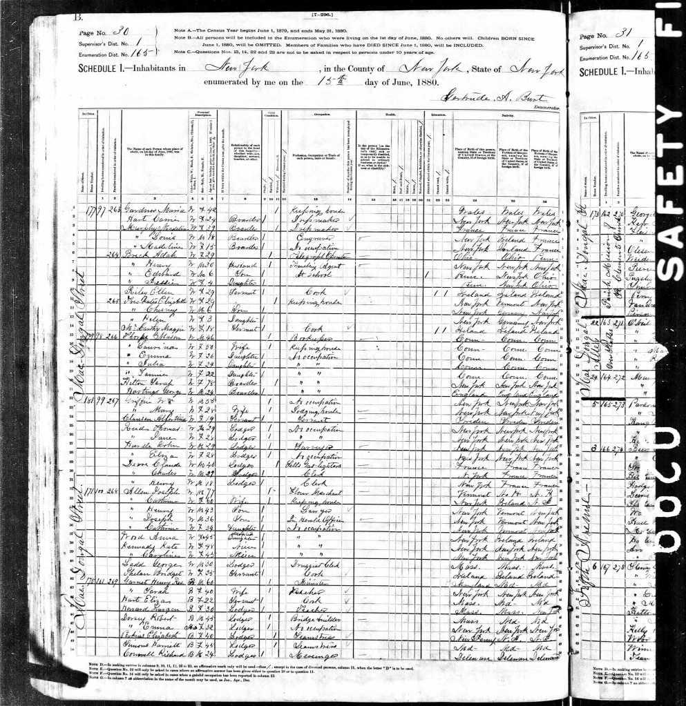 Garnet, Henry 1880 Census